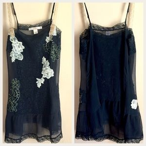 Victoria Secret Black Lacey Camisole / Nightgown